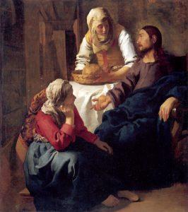 Cristo nella casa di Maria e di Marta, Vermeer